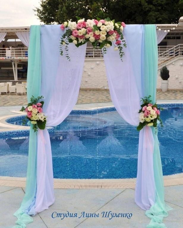 Свадебная арка прямоугольной формы